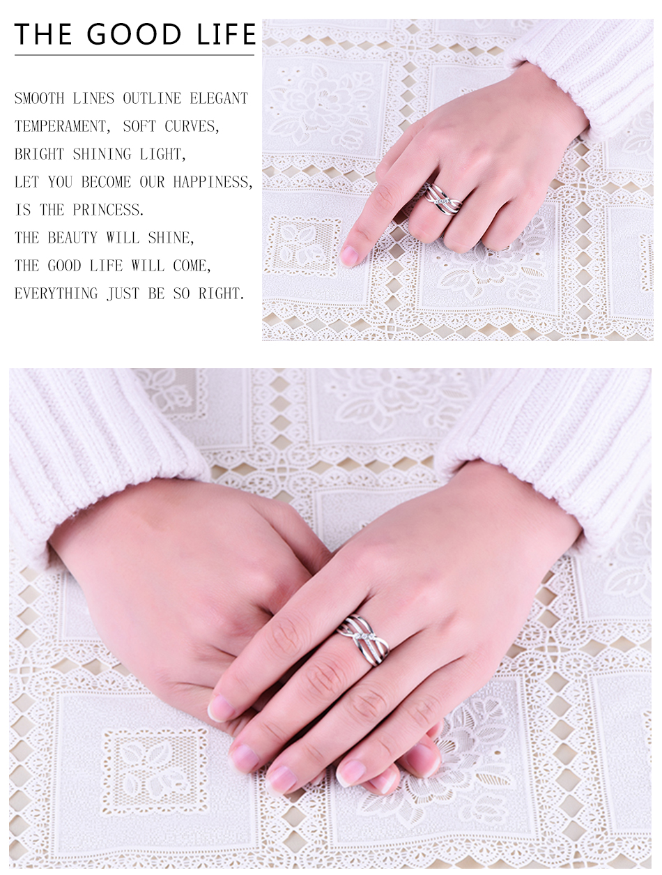 YL 100% 925 Sterling Silver Rings for Women Men's Ring with ...